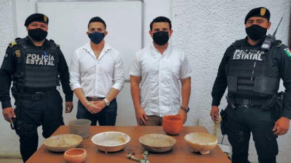 Piezas arqueológicas que eran vendidas por internet son recuperadas por el INAH