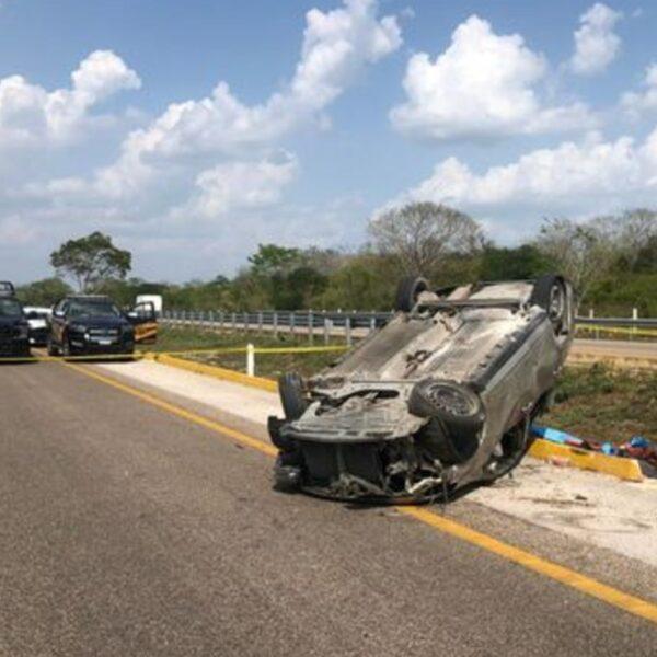 Menor de 15 años muere en accidente sobre la carretera Mérida-Campeche