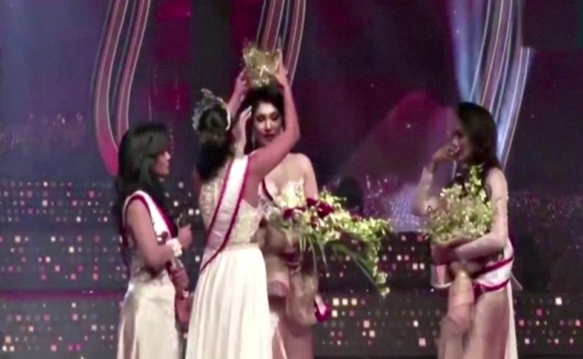Por esta divorciada le arrebatan la corona la triunfadora del concurso de belleza Mrs Sri Lanka 2021