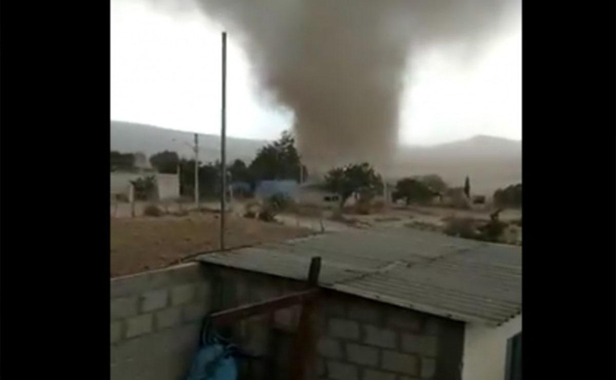 Video: Pobladores de Hidalgo captan tornado