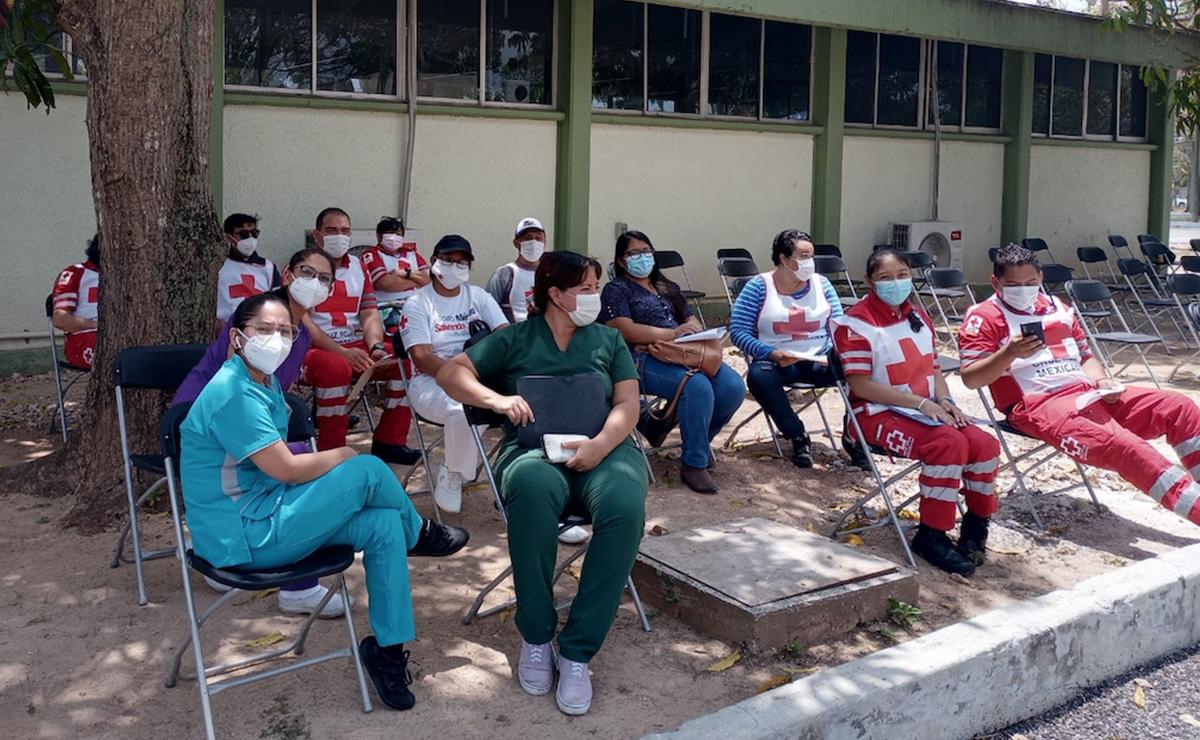 A punto de concluir vacunación covid-19 a personal de la Cruz Roja Cancún