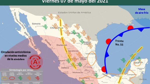Pronóstico del clima para hoy 7 de mayo en Quintana Roo.