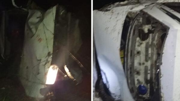 Accidente automovilístico en tramo carretero Kantunilkín a San Pedro.