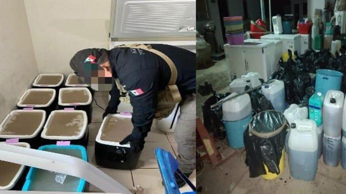 Decomisan en Sinaloa más de una tonelada de metanfetamina
