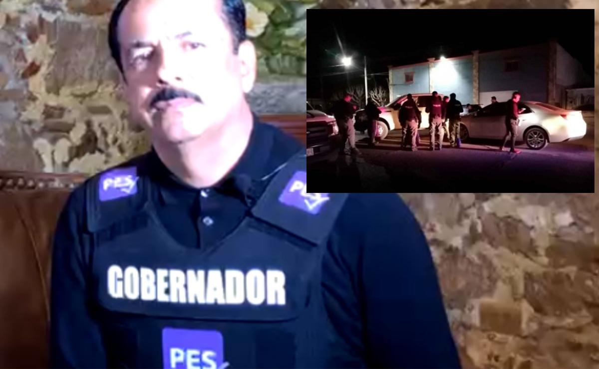 A chaleco, blindado, hace campaña electoral candidato en Sinaloa