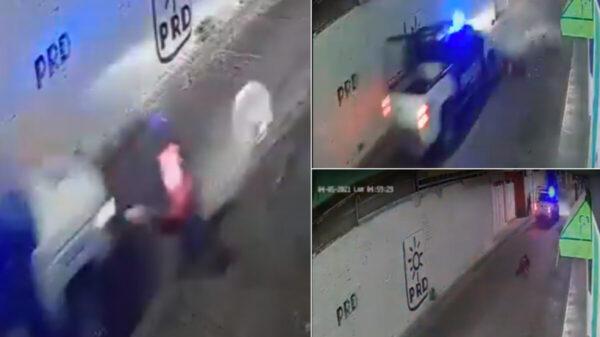 Policías atropellan a ciclista y se dan a la fuga, en Guanajuato