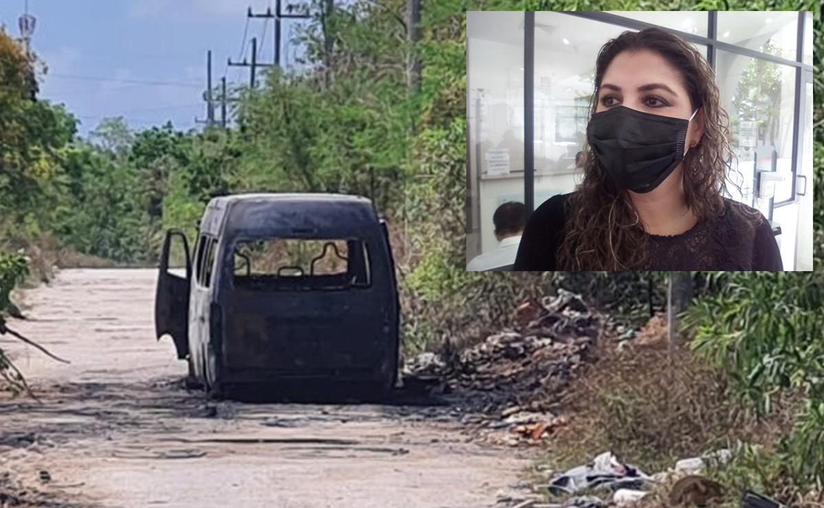 Quema de combis no son obra del crimen organizado: Flor Ruiz