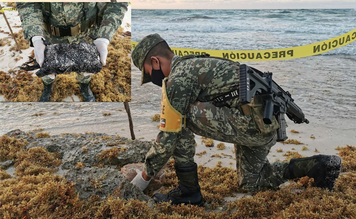 """Recala """"surtido"""" de drogas en playas de Cozumel"""