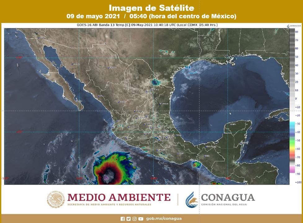 Pronóstico del clima para hoy domingo 9 de mayo de 2021; para Quintana Roo se prevén altas temperaturas y lluvias aisladas en regiones.