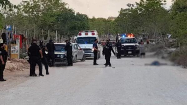 Cancún: Ejecutan a hombre en la región 247 y lesionan a mujer