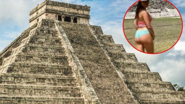 Joven es criticada por desnudarse en calles de Mérida y en Chichén Itzá sin ser sancionada