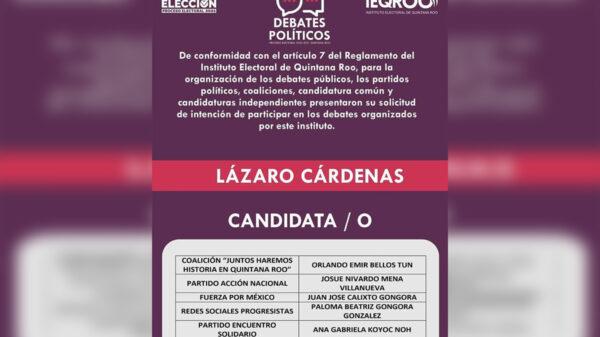 Alistan debate de candidatos en Lazaro Cárdenas