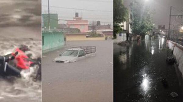 Más de mil 500 familias resultaron afectadas por fuertes lluvias en Veracruz