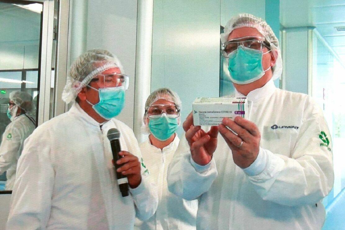 AstraZeneca, producida por México, casi lista para exportar