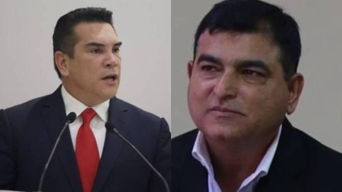 """Alejandro Moreno, alias """"Alito"""", y el empresario paquistaní-hondureño, Mohamad Yusuf Amdani Bai, con quien contrabandeó vacunas rusas anticovid."""