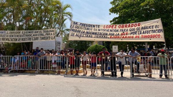 Campesinos de Tihosuco exigen a AMLO indemnización de tierras ejidales