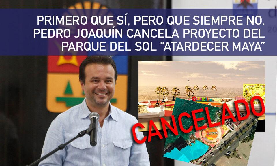 Desapareció Pedro Joaquín 5 mdp destinados para el parque 'Atardecer Maya'.