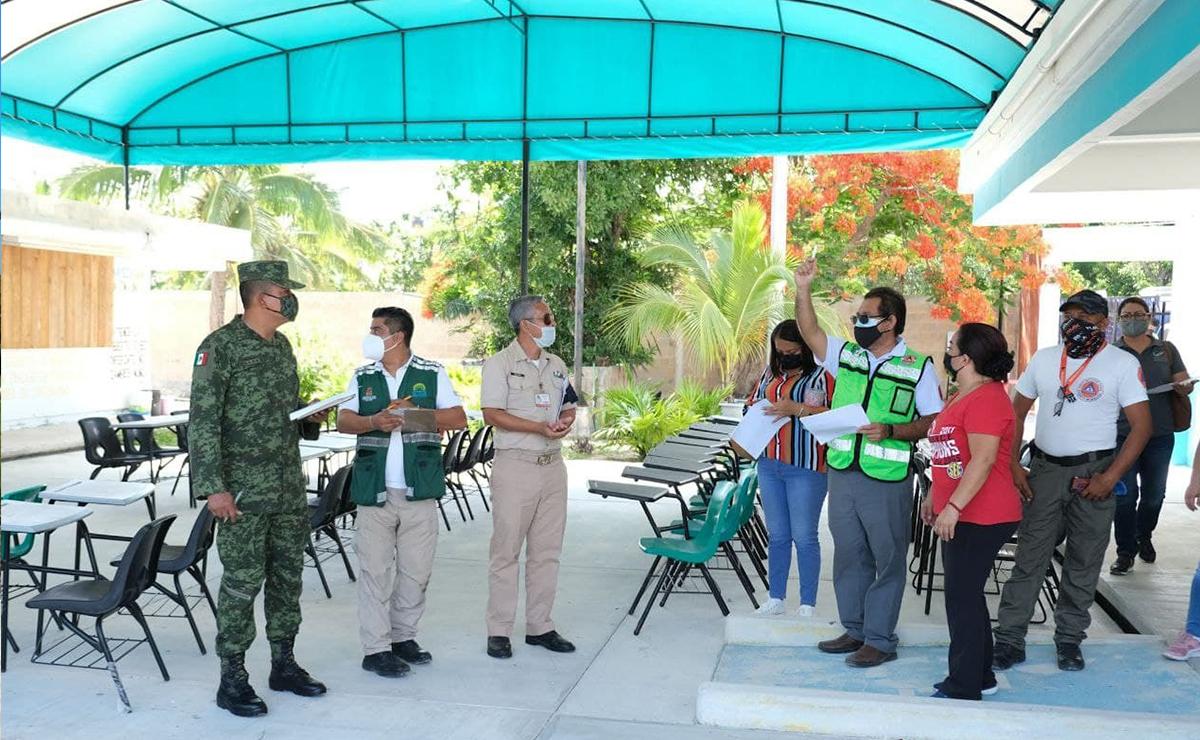 Inician supervisión de refugios anticiclónicos en Puerto Morelos
