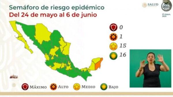 ¡Buenas noticias! La mitad del país está en color verde del Semáforo epidémico