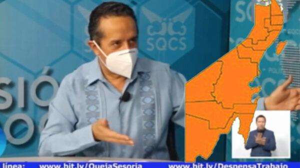 Se mantiene Quintana Roo en Semáforo Naranja