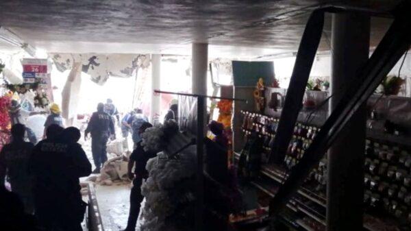 Reporta Procivy, cero lesionados tras la caída del techo de un local en el Centro de Mérida