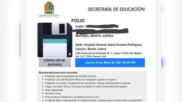 Avanza registro de personal educativo para vacunación covid-19 en Quintana Roo