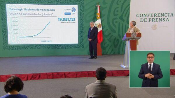 Suman ya casi 20 millones de personas vacunadas en México