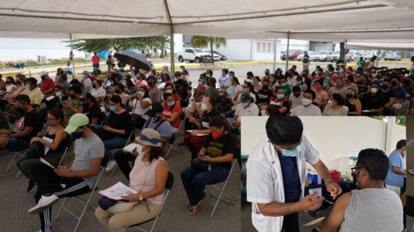 Inicia IMSS Quintana Roo aplicación de vacuna contra covid-19 a docentes