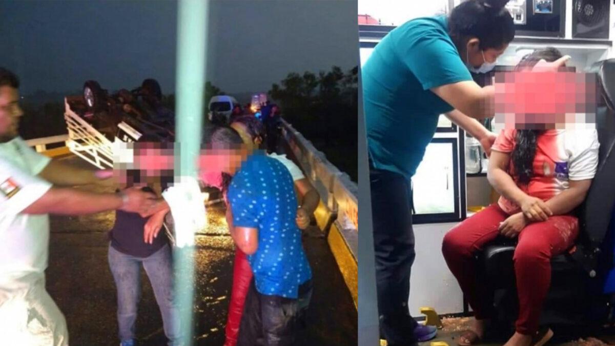 Un muerto y 10 heridos tras volcadura de autobús con simpatizantes del PES