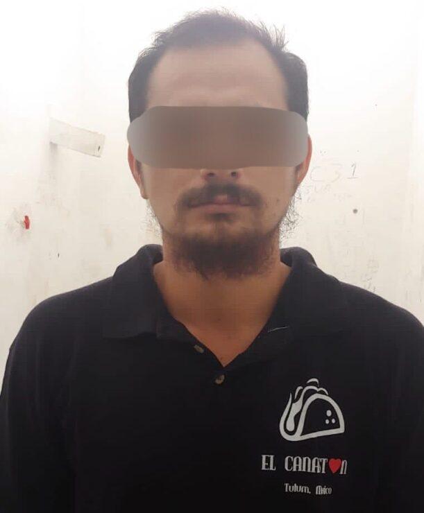 """Vinculan a proceso a sujeto que agredió a su pareja en calles de Tulum; Olof """"G"""" fue vinculado a proceso por el delito de violencia familiar."""