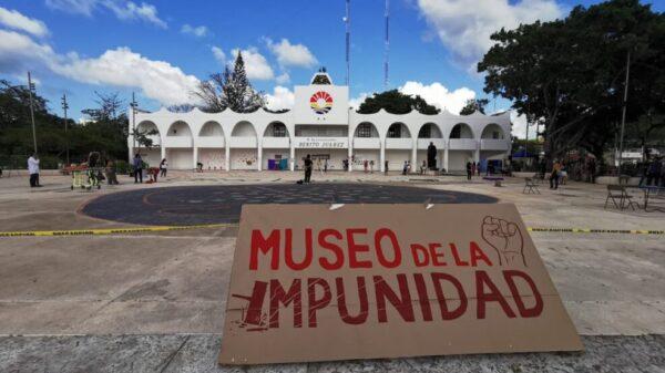 Víctimas de represiones en Cancún realizan el 'Museo de la Impunidad.