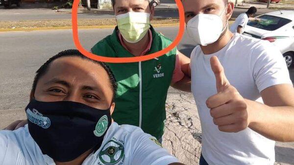 Ofrece Rodrigo Alcázar a taxistas de Cancún dádivas a cambio de voto para el PVEM (UDIO).