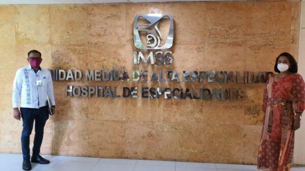 IMSS Quintana Roo fortalece lazos de colaboración con la UMAE de Mérida.
