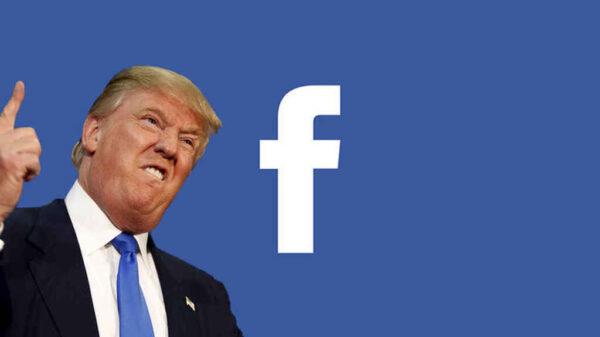 Suspende Facebook definitivamente la cuenta de Donald Trump.