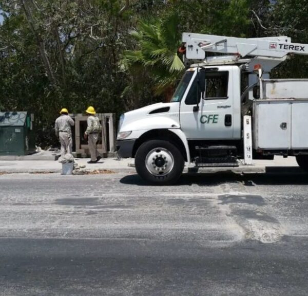 Hoy domingo habrá apagones en fraccionamientos de Playa del Carmen.