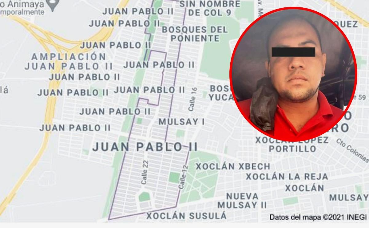 Por acosar a una joven de 17 años; sujeto es detenido en la colonia Juan Pablo II, Mérida