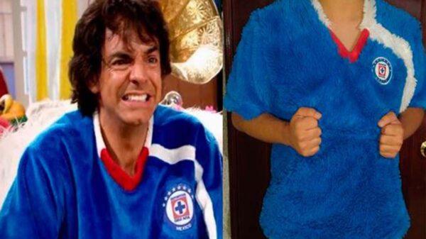 La euforia por el hecho de que Cruz Azul llegará a la gran final provocó la venta de toda clase de artículos, hasta la camisa de Ludovico P Luche