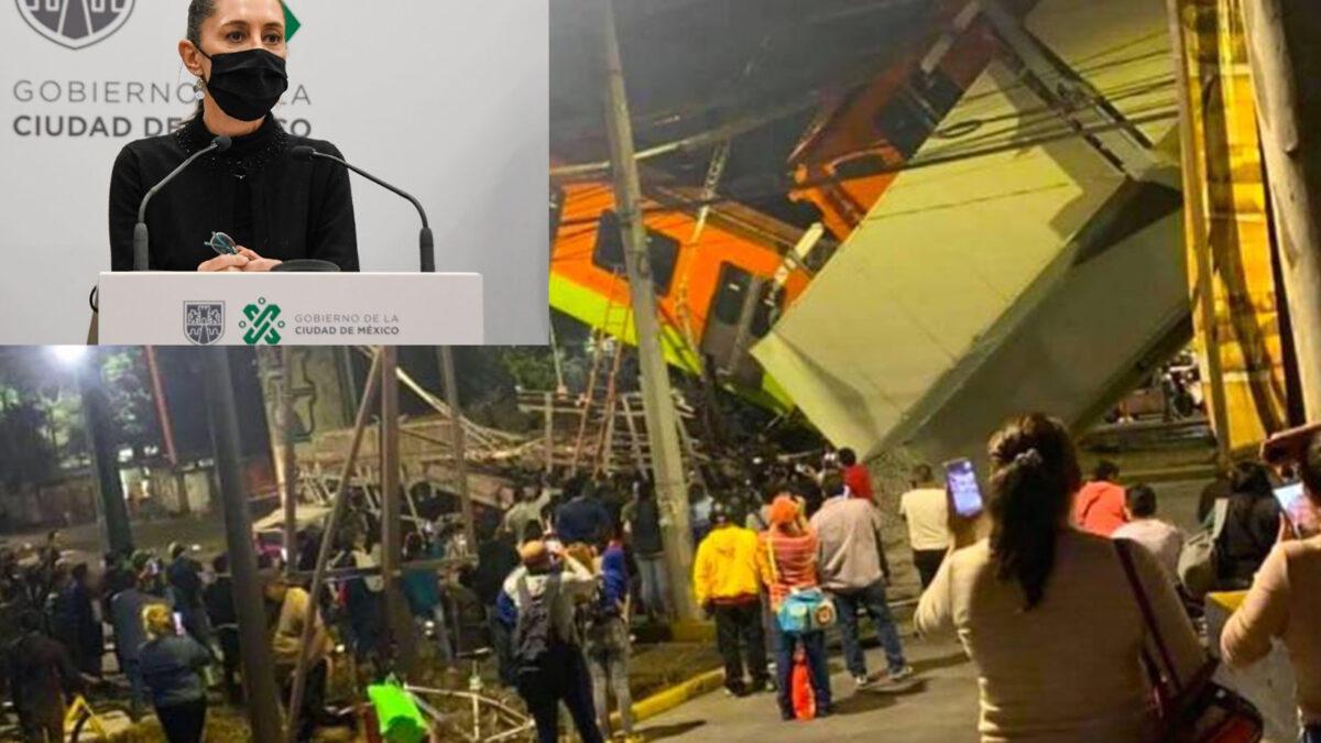 Asegura Sheinbaum que no va deja desamparado a víctimas de colapso
