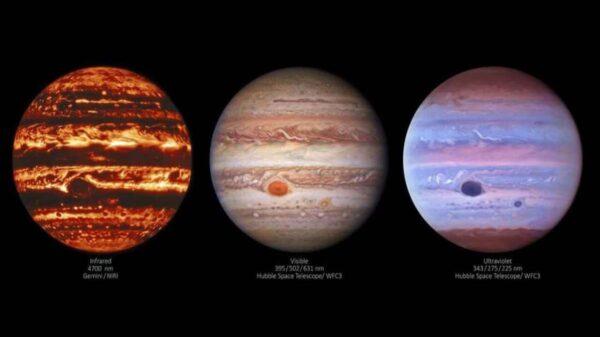La NASA reveló nuevas imágenes de Júpiter, en la que se aprecian increíbles paisajes de ese planeta que ha fascinado a la humanidad