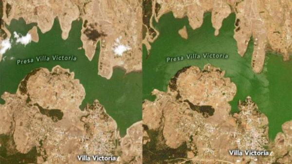 Un reporte publicado en las redes sociales de la NASA alertó que el 85 % del territorio mexicano está experimentado sequía