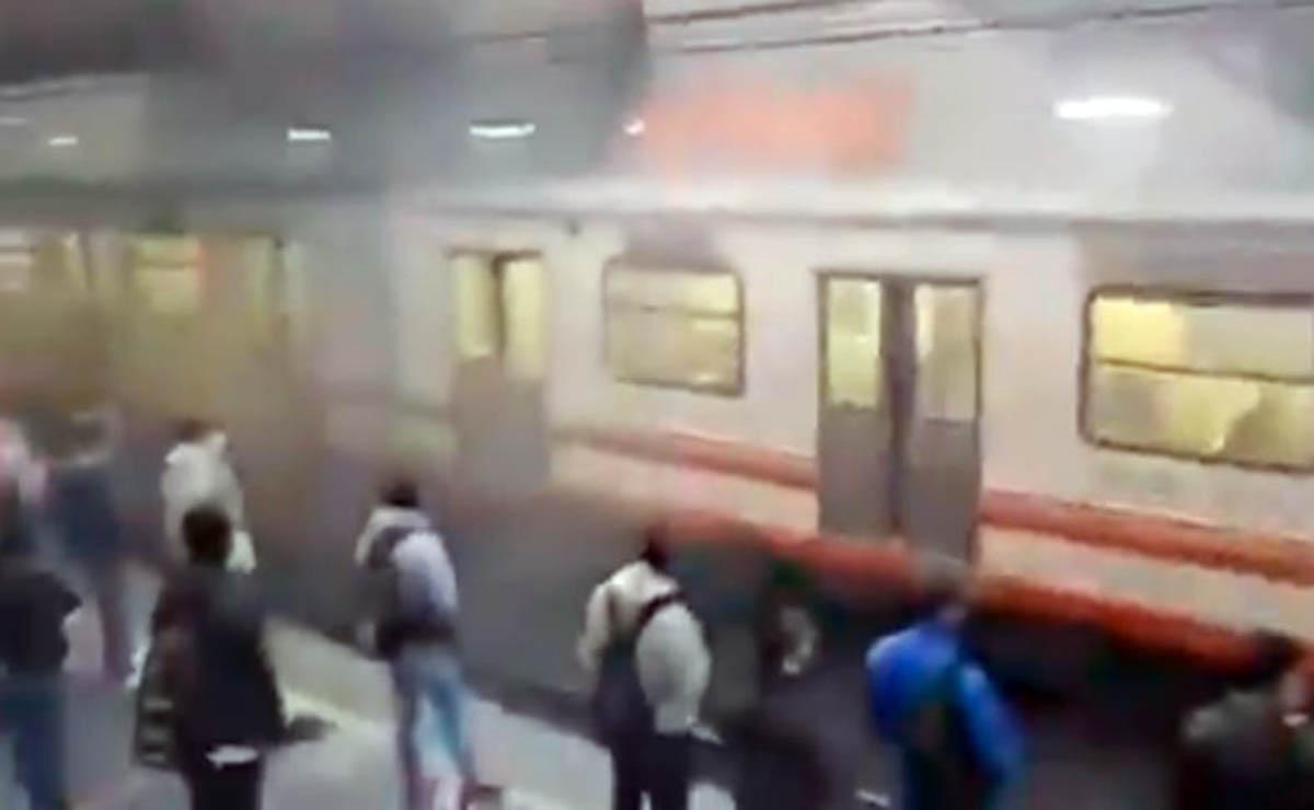 En la estación Pantitlán de la Línea A del Sistema de Transporte Colectivo Metro (STC), se registró un incidente, la mañana de este viernes
