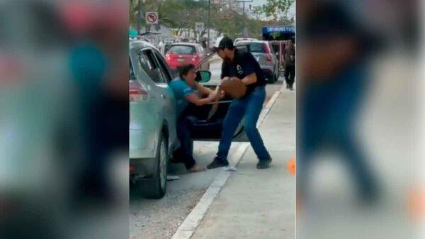 Vinculan a proceso a sujeto que agredió a su pareja en calles de Tulum.