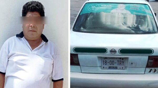 Detienen a taxista de Cancún que era buscado por despojo.