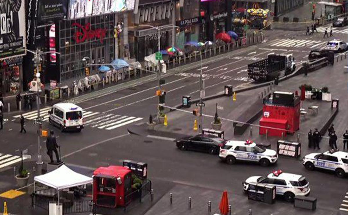 Atacan a balazos en Times Square, Nueva York
