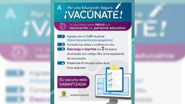 Habilita la SEQ página para que maestros confirmen su vacunación contra Covid-19.