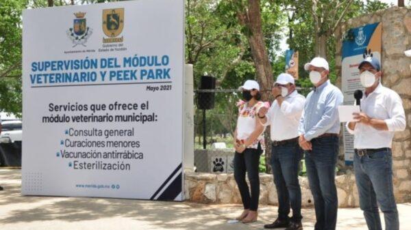 Inauguran módulo veterinario municipal en Mérida