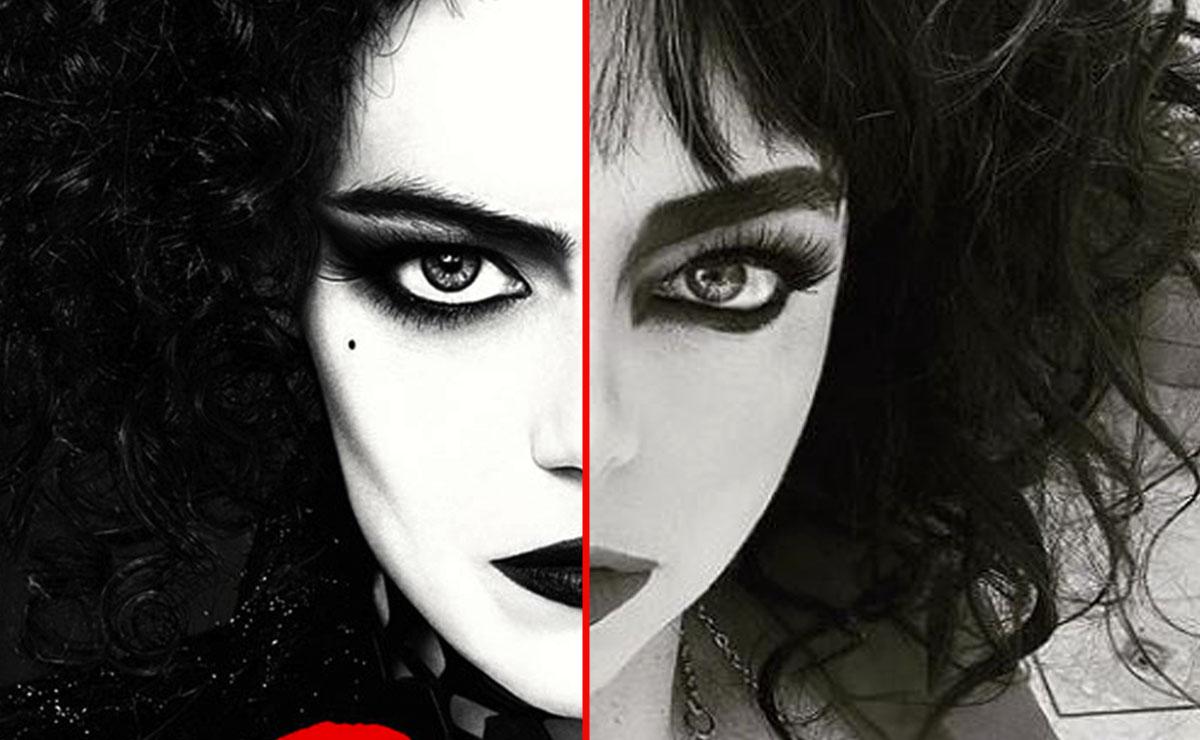 Violeta Isfel luce idéntica a 'Cruella' de Emma Stone
