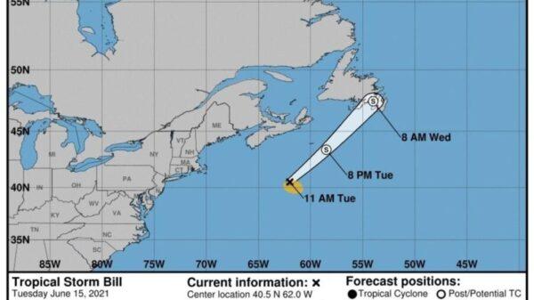 Se mantiene vigilancia 'Bill', segunda tormenta tropical de la temporada.