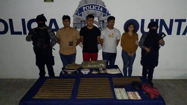 Detienen en Playa del Carmen a banda de narcomenudistas.