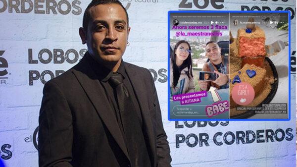 Luis Fernando Peña anuncia que se convertirá en papá